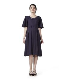 Innovative Maternity A Line Dress - Purple