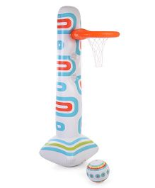 Classic Junior Sport Basket Ball Set - White & Blue
