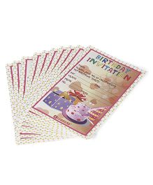 Karmallys Birthday Party Invitation Pad Multicolour - 20 Cards