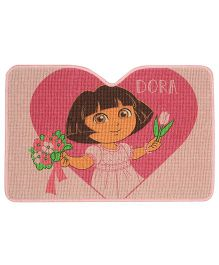 Saral Home Dora Theme Jute Cotton Door Anti Slip Mat - Light Pink