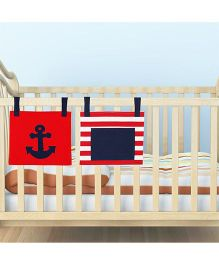 Kadam Baby 2 Bed Pockets Anchor & Stripes Print  - Red Blue
