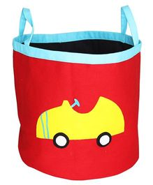 Kadam Baby Storage Bag With Handles Car Print - Red