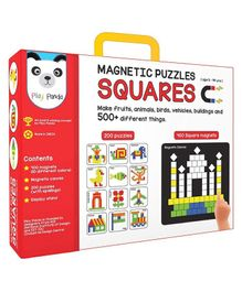 Play Panda Small Magnetic Square Puzzle With Canvas - 250 Pieces