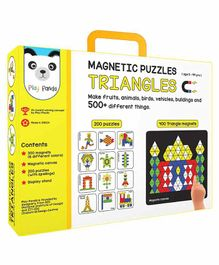Play Panda Small Magnetic Triangle Puzzle With Canvas - 250 Pieces