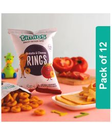 Timios Tomato & Cheese Rings Kids Snacks - Pack of 12