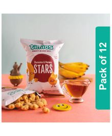 Timios Banana And Honey Stars Kids Snacks - Pack of 12