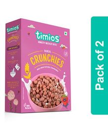 Timios Crunchies Breakfast Cereals Box Pack of 2 - 300 gm Each