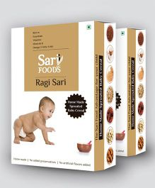 Sari Foods Organic Ragi Cereals Infant Baby Food Pack Of 2 - 300 grams each