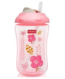 Babyhug Swipey Straw Sipper Pink - 300 ml