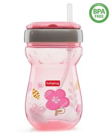 Babyhug Weighted Straw Sipper Pink - 360 ml