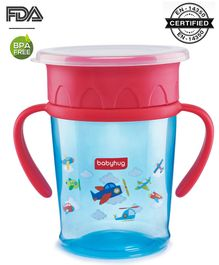 Babyhug 360 Degree All Round Sipper Blue & Red - 360 ml