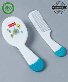 Babyhug Ergo Grip  Hair Brush & Comb Grooming Set - Blue