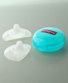 Babyhug Silicone Nipple Shield With Case Pack of 2 - Turquoise