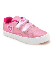 MYAU Velcro Closure Casual Sneakers - Pink