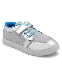 MYAU Velcro Closure Casual Sneakers - Silver