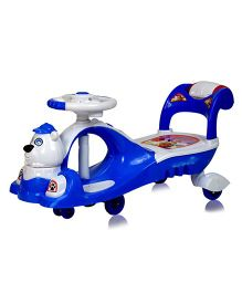 Getbest Musical Twister Car Bear Design - Royal Blue White