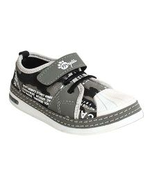 Myau Solid Velcro Closure Casual Shoes-Grey White