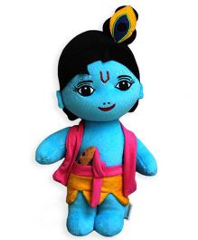 Sakhyam Lord Krishna Soft Toy Blue - Height 39 cm