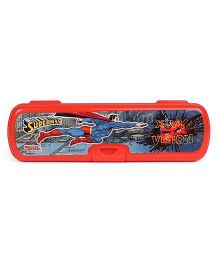 DC Comics Superman Print Pencil Box - Red