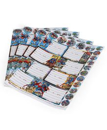 DC Comics Superman Printed Book Labels - 4 Sheets