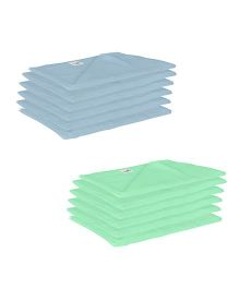 Lula Reusable Muslin Square Nappies Pack of 12 - Blue Green