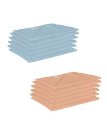 Lula Reusable Muslin Square Nappies Pack of 12 - Blue Brown