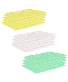 Lula Reusable Muslin Square Nappies Pack of 15 - Yellow White Green