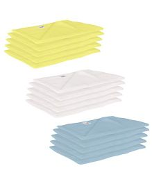 Lula Reusable Muslin Square Nappies Pack of 15 - Yellow White Blue