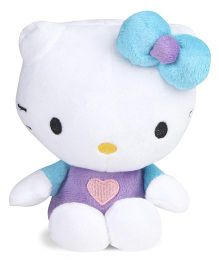Hello Kitty Plush Toy Blue Purple - Height 15 cm