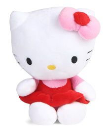 Hello Kitty Plush Toy Pink Red - Height 15 cm