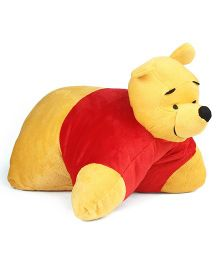 Disney Pooh Folding Plush Pillow Yellow Red - 36 cm