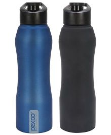 Pexpo Bistro Sipper Bottles Black Blue Pack of 2 - 750 ml