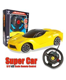 Planet of Toys Steering Wheel Remote Control Mini Lamborghini Car - Yellow