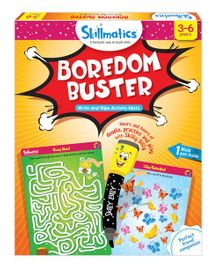 Skillmatics Boredom Buster Write & Wipe Activity Mats - Multi Color