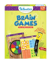 Skillmatics Brain Games Write & Wipe Activity Mats - Multi Color