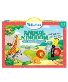 Skillmatics Animal Kingdom Write & Wipe Activity Mats - Multi Color