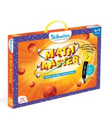 Skillmatics Math Master Write & Wipe Activity Mats - Orange