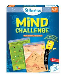 Skillmatics Mind Challenge Write & Wipe Activity Mats - Dark Blue