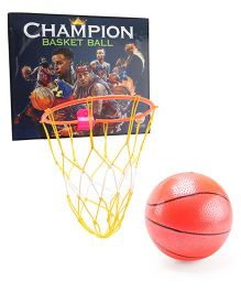 Ratnas Champion Basket Ball Set - Orange & Multi Colour