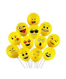 SmartCraft Emoji Balloons Pack of 25 - Yellow