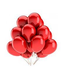 SmartCraft Metallic Balloons Red - Pack of  100