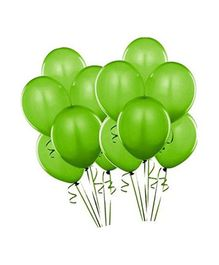 SmartCraft Metallic Balloons Green- Pack of  100