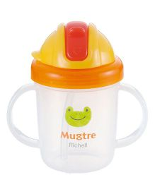Richell MugTre With Free Spout as Training Mug Orange - 260 ml