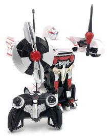 Flyers Bay Transforming Robot Car - White Red