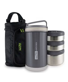 Home Puff Double Wall Vacuum Insulated Stainless Steel Lunch Box Grey - 1700 ml