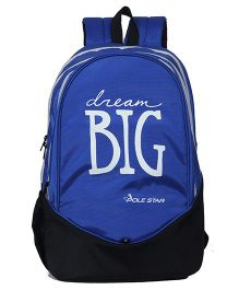 Polestar School Bag Dream Big Print Royal Blue - 18.8 Inches
