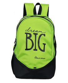 Polestar School Bag Dream Big Print Green - 18.8 Inches