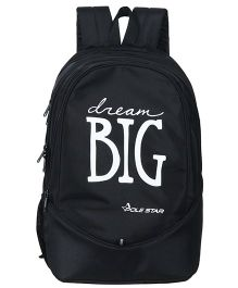 Polestar School Bag Dream Big Print Black - Height 18.8 Inches