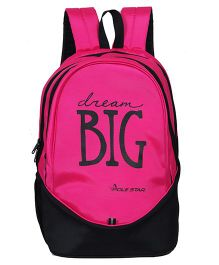Polestar School Bag Dream Big Print Pink - 18.8 Inches