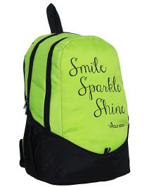 Polestar School Bag Smile Print Green - 18 Inches